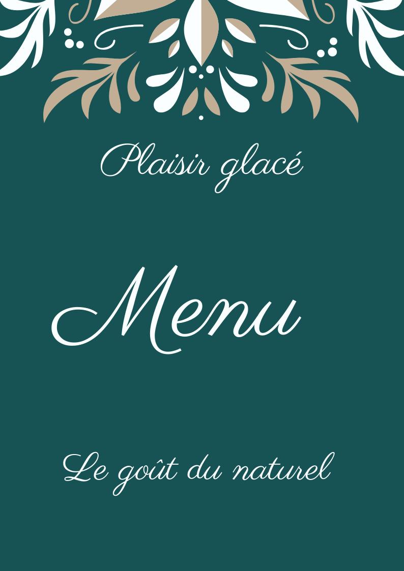 menu plaisir glacé 2020